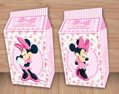 Caixa Milk Minnie Rosa Floral