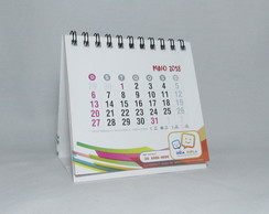Calendario Wire-o com 12 paginas 10x10cm - 25 unidades