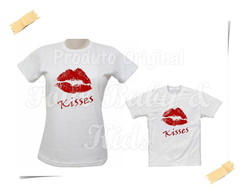Camiseta Divertida Kit Kisses G30