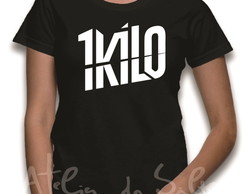 Camiseta ou Baby Look 1kilo Rap