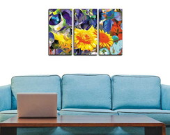 Painel Mosaico Abstrato Decorativo Floral DM001