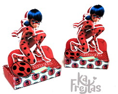 Caixa Dupla Chocolate - Lady Bug e Cat Noir