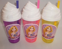 Copo Chantilly com Canudo de 500ml Rapunzel 02