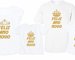 Kit Camisetas Ano Novo