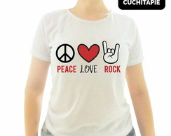 Baby look - Peace, Love e Rock