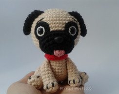 Mini cachorrinho pug - Amigurumi