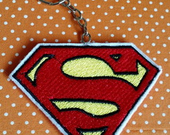CHAVEIRO BORDADO PATCH SUPERMAN