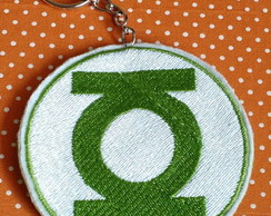 CHAVEIRO BORDADO PATCH LANTERNA VERDE