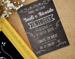 Save the Date com imã - Chalkboard
