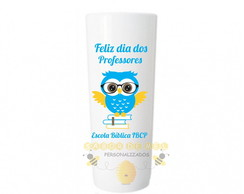 Copo Long Drink Coruja Dia do Professor Personalizado mod7