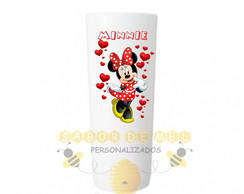 Copo Long Drink Minnie Vermelha Personalida