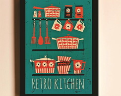 Poster com Moldura Retro Kitchen