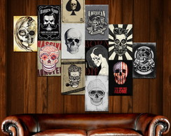 Placas Decorativas Em Mdf 20x30 Barbearia Rock Música Motor