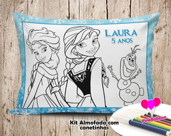 MINI ALMOFADA COLORIR 15X20 FROZEN