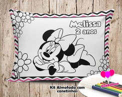 MINI ALMOFADA COLORIR 15X20 MINNIE