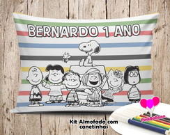 MINI ALMOFADA COLORIR 15X20 SNOOPY