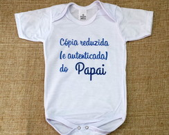 Body Baby Personalizada - Cópia Reduzida do Papai