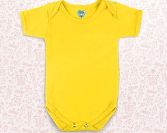 Body infantil Liso - AMARELO OURO