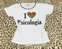 Baby look Customizada - Psicologia