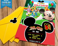 Convites Casa do Mickey