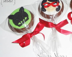 Pirulito de Chocolate Miraculous Lady Bug