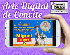 Arte Digital Convite Toy Story