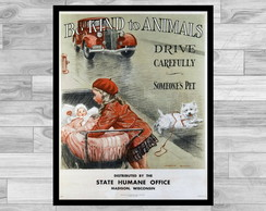 POSTER VINTAGE - 43x60- BE KIND TO ANIMALS 1
