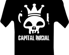 CAMISETA MASCULINA ADULTO CAPITAL INICIAL BANDAS ROCK