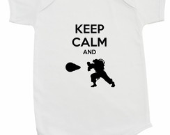 Body Infantil para bebe keep calm and hadouken