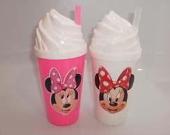 Copo Chantilly c/ Canudo 500ml Minnie