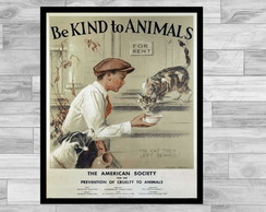 POSTER VINTAGE - 43x60- BE KIND TO ANIMALS 5
