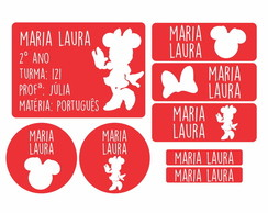 Kit Etiqueta Escolar Minnie DIGITAL