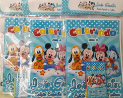 Kit de Colorir Mickey Baby