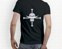 Camiseta One Piece Jolly Roger Barba Branca