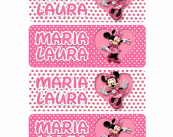 Etiqueta Escolar Minnie DIGITAL