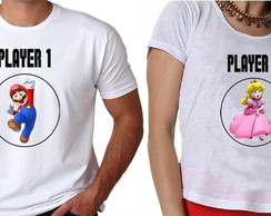 Camiseta Player 1 Player 2 (Namorados)