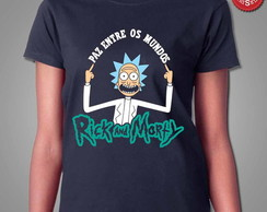Camiseta Rick And Morty - Paz Entre Os Mundos