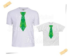 Camiseta Divertida Kit Gravata Verde - G42