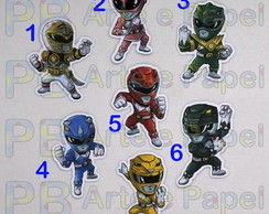 Aplique Topper Recorte Power Rangers 5cm