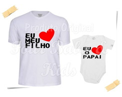 Camiseta Divertida Kit Eu Amo o Papai - G82