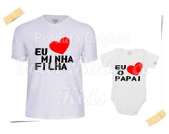 Camiseta Divertida Kit Eu Amo o Papai - G83