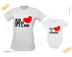 Camiseta Divertida Kit Eu Amo a Mamae - G84