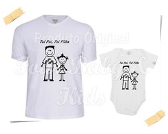 Camiseta Divertida Kit Pai e Filha Vasco G90