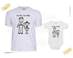 Camiseta Divertida Kit Pai e Filha Vitoria G102