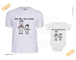 Camiseta Divertida Kit Pai e Filha Atletico PR G106