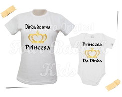 Camiseta Divertida Kit Dinda de Princesa G124