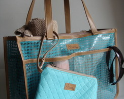 mini bolsa divisions azul sonoe bag elo7. Black Bedroom Furniture Sets. Home Design Ideas