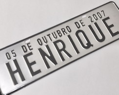 Placa de Carro Decorativa - Prensada