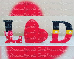Letras MDF Mickey e Minnie