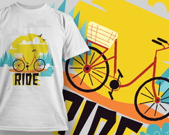 Camiseta Branca Unissex Ride